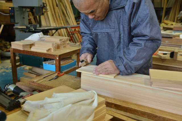 小宮の製作 木口仕上げ