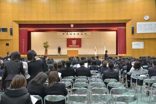 娘の卒業式
