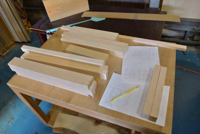 折れ屋根宮 8寸の製作