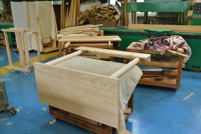 雲板付棚板の製作