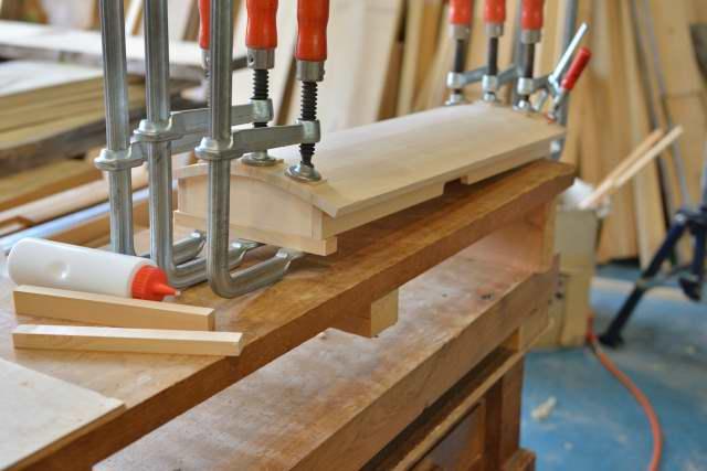 天板アール箱の組立