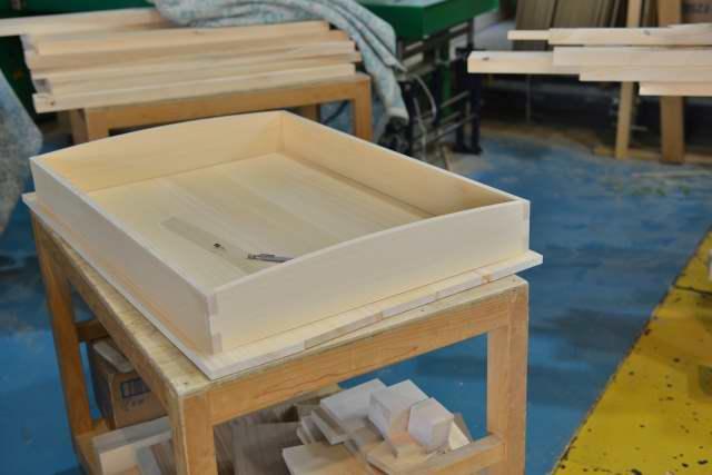 唐櫃の蓋の仮組み
