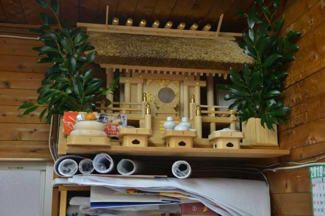 神棚のお正月飾り