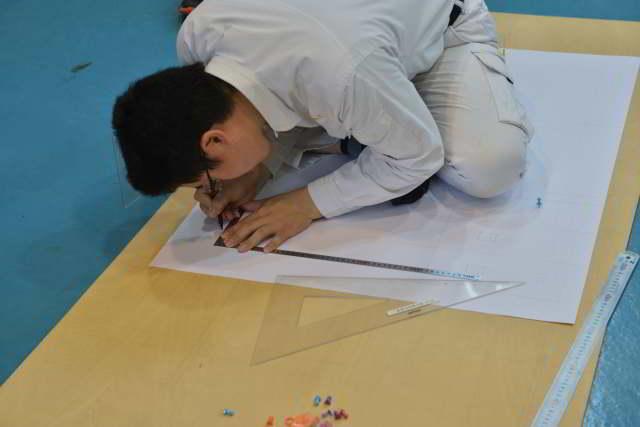 技能競技大会の図面練習