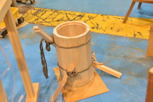 鳴動桶の組立