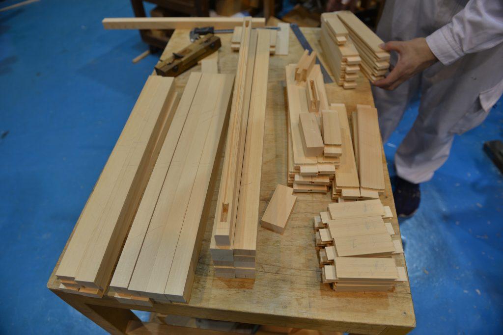 小5尺型御霊舎の板建具