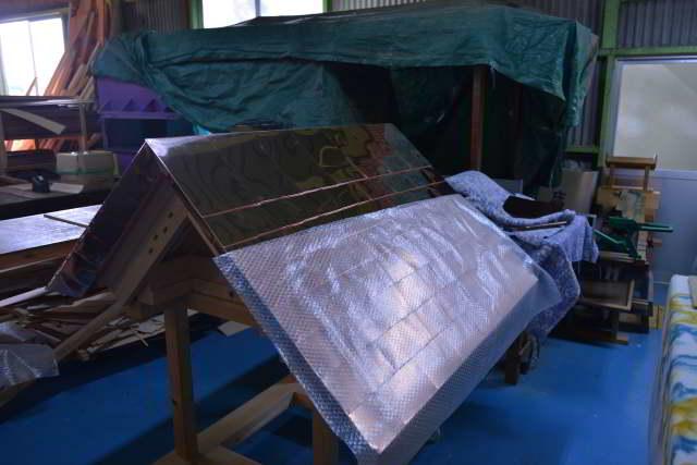 神明宮の屋根板金