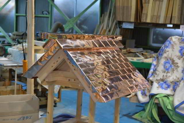 神明宮の屋根