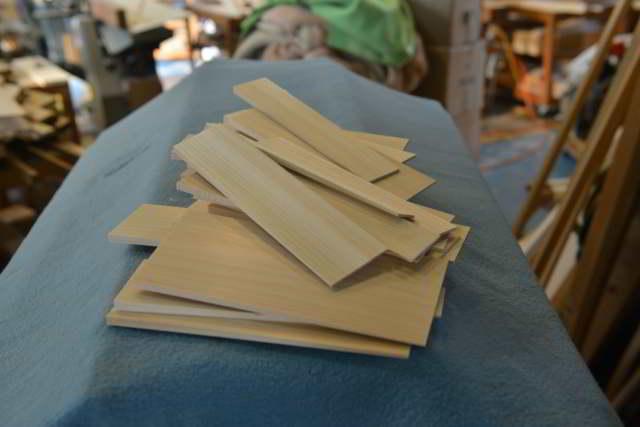 桧の箸製作