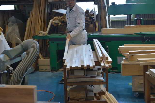 3尺型御霊舎の木取り
